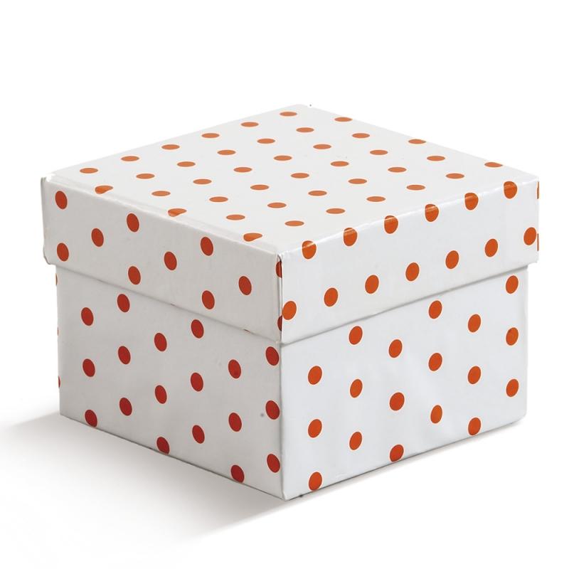 Κουτάκι τετράγωνο πουά κωδ.  0841-08