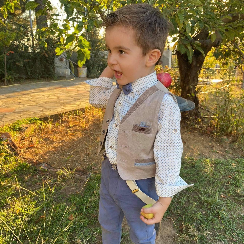 Βαπτιστικό κοστούμι Mi Chiamo  A 4448ΜΣ