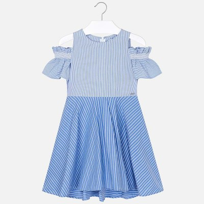 6fc25b4e985e Mayoral 6936 Φόρεμα ριγέ συνδυασμένο κορίτσι