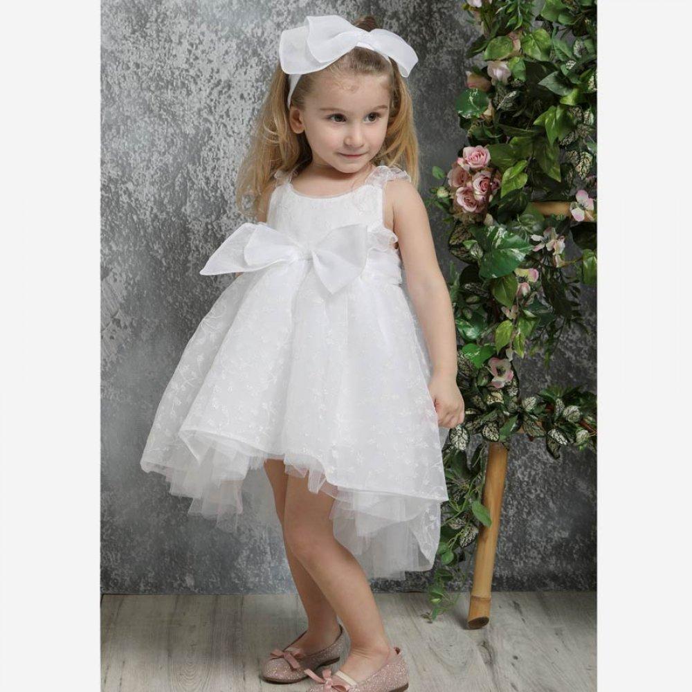 Βαπτιστικό Φόρεμα Mi Chiamo K4329Φ Λευκό